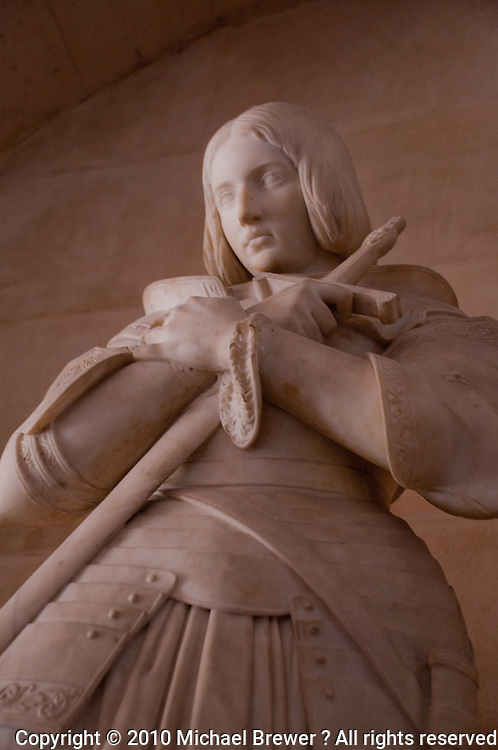 Palace of Versailles. Close-up of the Joan of Arc statue.