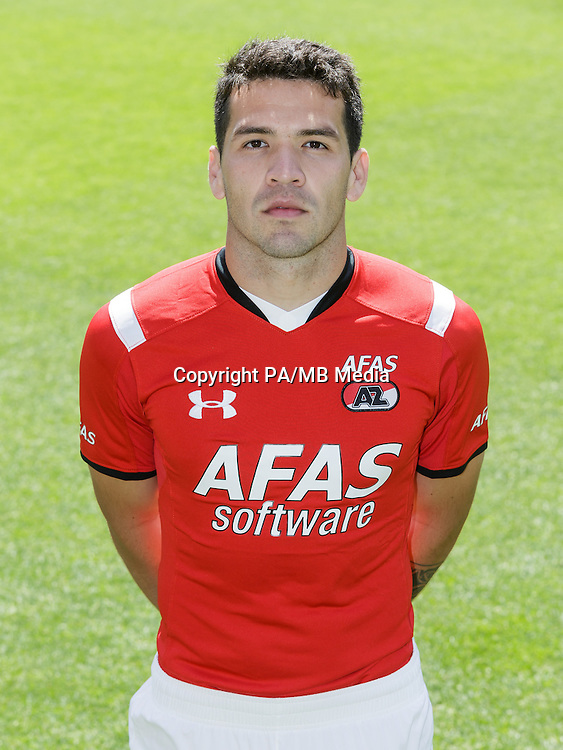 Celso Ortiz during the team photocall of AZ Alkmaar on July 17, 2015 at Afas Stadium in Alkmaar, The Netherlands