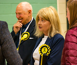Haddington & Lammermuir by-election count. Haddington, East Lothian, Scotland, United Kingdom, 10 May 2019. Pictured:   Lorraine Glass, Scottish National Party (SNP). The election takes place of one councillor in Ward 5 of East Lothian Council due to the resignation of Councillor Brian Small. The successful candidate represents this ward along with the three existing councillors. The by-election uses the Single Transferable Vote (STV) system in which voters can rank candidates in order of preference and can choose to vote for as many or as few candidates as they like. The election fields 5 candidates from Scottish National Party (SNP), Scottish Labour Party, Scottish Conservatives and Unionist Party, Scottish Liberal Democrats and UK Independence Party (UKIP).<br /> <br /> Sally Anderson | EdinburghElitemedia.co.uk