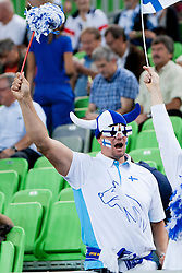Fan of team Finland during basketball match between National teams of Finland and Croatia in 2nd Round at Day 9 of Eurobasket 2013 on September 12, 2013 in SRC Stozice, Ljubljana, Slovenia. (Photo By Urban Urbanc / Sportida)
