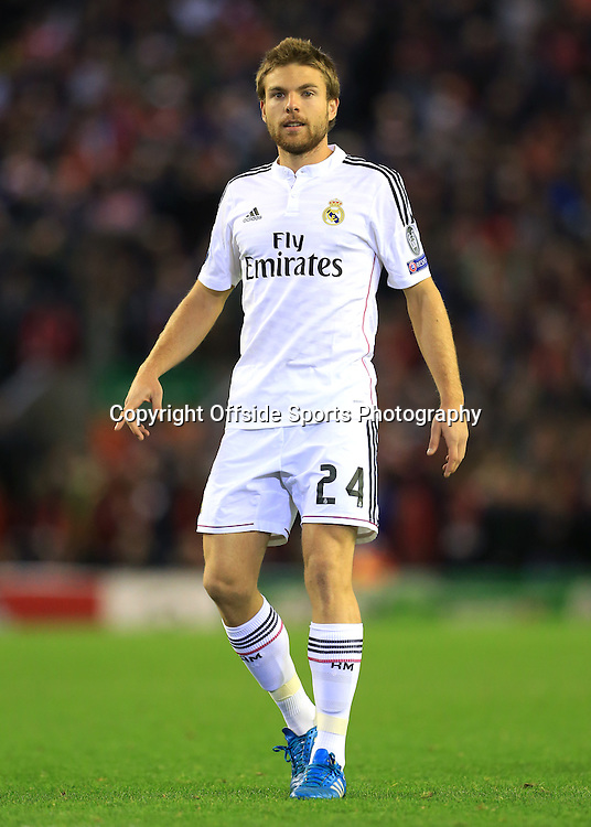 22nd October 2014 - UEFA Champions League - Group B - Liverpool v Real Madrid - Asier Illarramendi of Real - Photo: Simon Stacpoole / Offside.