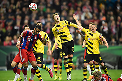 28.04.2015, Allianz Arena, Muenchen, GER, DFB Pokal, FC Bayern Muenchen vs Borussia Dortmund, Halbfinale, im Bild Kopfball Marco Reus BVB Borussia Dortmund // during German DFB Pokal semifinal match between FC Bayern Munich and Borussia Dortmund at the Allianz Arena in Muenchen, Germany on 2015/04/28. EXPA Pictures © 2015, PhotoCredit: EXPA/ Eibner-Pressefoto/ Weber<br /> <br /> *****ATTENTION - OUT of GER*****