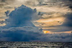 beautiful storm clouds over the ocean
