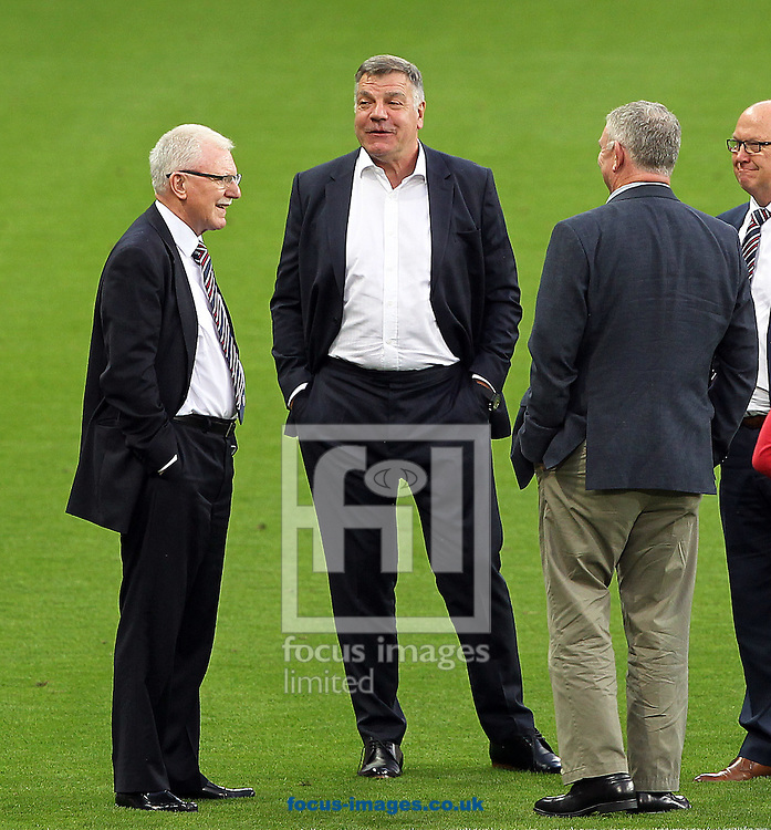 England manager, Sam Allardyce, has left his post following a meeting of the FA management after a newspaper investigation into alleged inappropriate advice about player transfers.<br /> Gareth Southgate will act as caretaker.<br /> Picture by Focus Images/Focus Images Ltd 07814 482222<br /> 27/09/2016<br /> <br /> File image for live news<br /> <br /> Original caption:<br /> <br /> England Manager Sam Allardyce during the England team stadium visit to Stadion Antona Malatinskeho, Trnava<br /> Picture by Paul Chesterton/Focus Images Ltd +44 7904 640267<br /> 03/09/2016