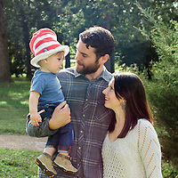 Candid family portrait on-location at Tower Grove Park in St. Louis, MO.