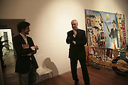 Henry Hemming and Nicholas Brealey, Misadventure In the Middle East. Travels As a Tramp, Artist and Spy by Henry Hemming. Book launch and exhibition. Paradise Row. London. E2.  -DO NOT ARCHIVE-© Copyright Photograph by Dafydd Jones. 248 Clapham Rd. London SW9 0PZ. Tel 0207 820 0771. www.dafjones.com.