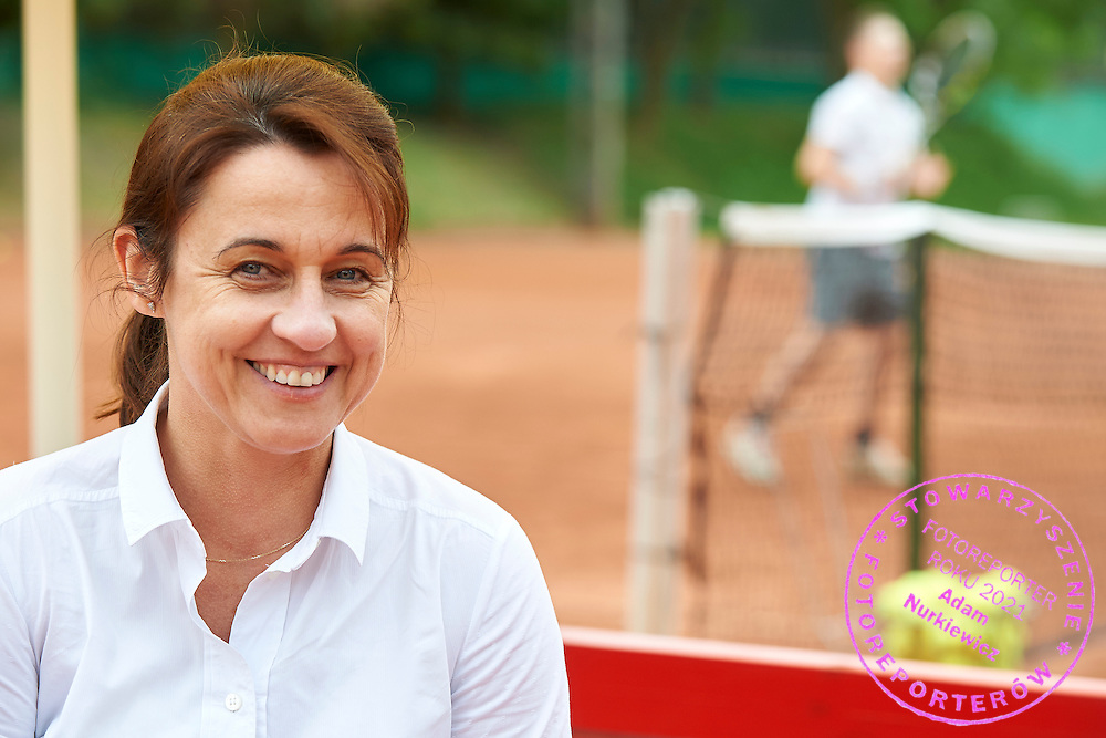 Dr. hab physiologist Ewa Ziemann from Academy of Physical Education and Sport in Gdansk on tennis court on June 16, 2015 in Gdansk, Poland.<br /> <br /> Poland, Gdansk, June 16, 2015<br /> <br /> Picture also available in RAW (NEF) or TIFF format on special request.<br /> <br /> For editorial use only. Any commercial or promotional use requires permission.<br /> <br /> Adam Nurkiewicz declares that he has no rights to the image of people at the photographs of his authorship.<br /> <br /> Mandatory credit:<br /> Photo by &copy; Adam Nurkiewicz / Mediasport