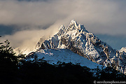 Mount Olivia in breaking storm. Ushuaia, Argentina.