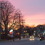 Sunset in Arlington, VA, on December 11, 2014