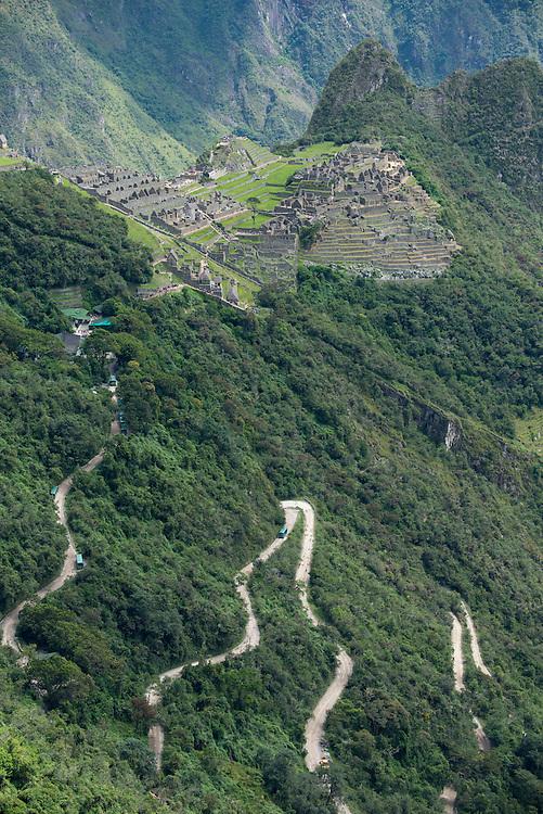 South America, Peru, Urubamba Province,Machu Picchu, UNESCO, World Heritage site, road to Machu Picchu