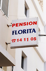 Sign for Pension Florita,