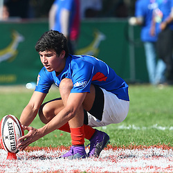 DURBAN, SOUTH AFRICA - JULY 12: Pieter Kruger of the Komati Fruit Limpopo Blue Bulls during the match between Limpopo BB and Border CD on day 2 of the U/18 Coca-Cola Craven Week at Kearsney College on July 12, 2016 in Durban, South Africa. (Photo by Steve Haag/Gallo Images)