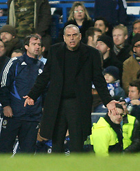 LONDON, ENGLAND - Tuesday, December 4, 2007: Chelsea's manager Avram Grant during the League Cup Semi-Final 1st Leg match against Everton at Stamford Bridge. (Pic by Chris Ratcliffe/Propaganda)