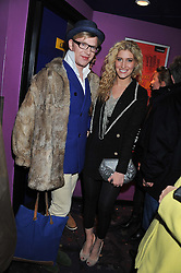 HENRY CONWAY and FRANCESCA HULL at a private screening of the film The Iron Lady hosted by nightclub Maggie's held at Cineworld, King's Road, London on 19th January 2012.