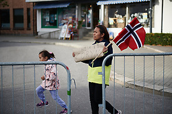 Coryn Rivera (USA) fans at Ladies Tour of Norway 2018 Stage 1, a 127.7 km road race from Rakkestad to Mysen, Norway on August 17, 2018. Photo by Sean Robinson/velofocus.com
