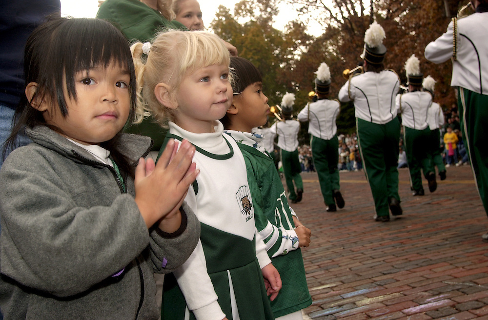 16700Homecoming Parade: Marching 110: Students:Fall 2004..Amy Millesen,4 athens,Taylor Clemons 3,the plains,Ben Millesen