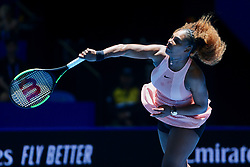 PERTH, Dec. 31, 2018  Serena Williams of the United States serves the ball during the women's single match against Maria Sakkari of Greece between the United States and Greece at Hopman Cup mixed teams tennis tournament in Perth, Australia, Dec. 31 , 2018. Serena Williams won 2-0. (Credit Image: © Zhou Dan/Xinhua via ZUMA Wire)