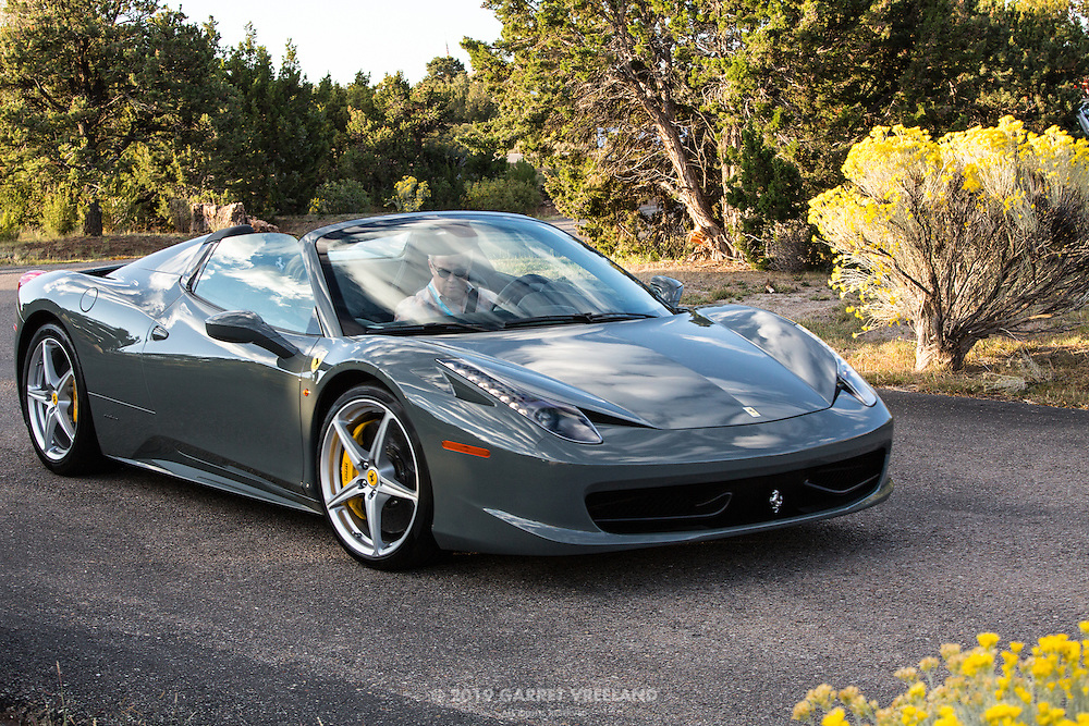 2012 Ferrari 458 Italia Spider, 2012 Santa Fe Concorso High Mountain Tour.