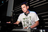 ATLANTIC CITY, NJ - APRIL  16: DJ AM, the entertainment industry?s premiere DJ, spins tunes at the Borgata 2006 April 16, 2006 in Atlantic City, New Jersey. DJ AM?s unique brand of music ? mixing hip-hop with rock and 80?s with music from today ? makes him one of the country?s most sought after DJs.  Barker is the former drummer for the multi-platinum selling band blink-182, drummer for +44, one third of the group ?Expensive Taste,? and is the star of MTV?s critically acclaimed reality series Meet the Barkers. (Photo by William Thomas Cain/Getty Images)