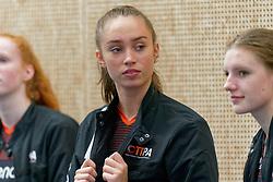 26-10-2019 NED: Talentteam Papendal - Sliedrecht Sport, Ede<br /> Round 4 of Eredivisie volleyball - Annika de Goede #5 of Talent Team