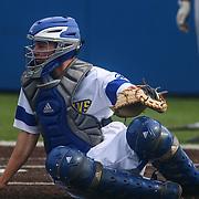Delaware Catcher Brian Mayer (16) during a regular season baseball game between Delaware and Saint Joseph's at Bob Hannah Stadium Tuesday April 19, 2016, in Newark.