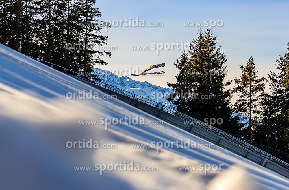 28.01.2017, Casino Arena, Seefeld, AUT, FIS Weltcup Nordische Kombination, Seefeld Triple, Skisprung, im Bild Paul Gerstgraser (AUT) // Paul Gerstgraser of Austria in action during his Trail Jump of Skijumping of the FIS Nordic Combined World Cup Seefeld Triple at the Casino Arena in Seefeld, Austria on 2017/01/28. EXPA Pictures © 2017, PhotoCredit: EXPA/ JFK