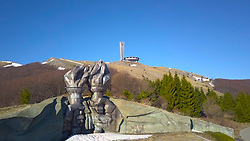 April 4, 2017 - Sofia, Bulgaria - Perched like a UFO, the Buzludzha Monument, near the town of Kazanlak east of the Bulgarian capital Sofia, Tuesday, April, 04, 2017, was built by the Bulgarian communist regime. It commemorates events in 1891 that saw socialists, led by Dimitar Blagoev, assemble secretly to form an organised socialist movement in the form of the Bulgarian Social Democratic Party, a forerunner of the Bulgarian Communist Party. The Monument was opened in 1981. However, the Bulgarian government doesn't have the resources needed to carry out necessary repair and conservation works and the mounoment has fallen into disrepair. A local resident said: ''This monument is unique in all the world and, if it is restored in future, can be a huge attraction for tourists and bring much money for the region. (Credit Image: © Impactpressgroup.Org/NurPhoto via ZUMA Press)