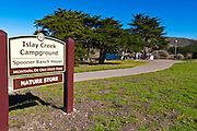 Sign at the Islay Creek campground and visitor center, Montana de Oro State Park, California USA