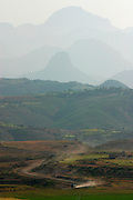 AXUM, TIGRAY/ETHIOPIA..The Adua Mountains at the Eritrean border..(Photo by Heimo Aga)