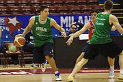 MILANO 12 MARZO 2011<br /> BASKET ALL STAR GAME<br /> ALLENAMENTO NAZIONALE ITALIANA<br /> NELLA FOTO ARADORI<br /> FOTO CIAMILLO CASTORIA