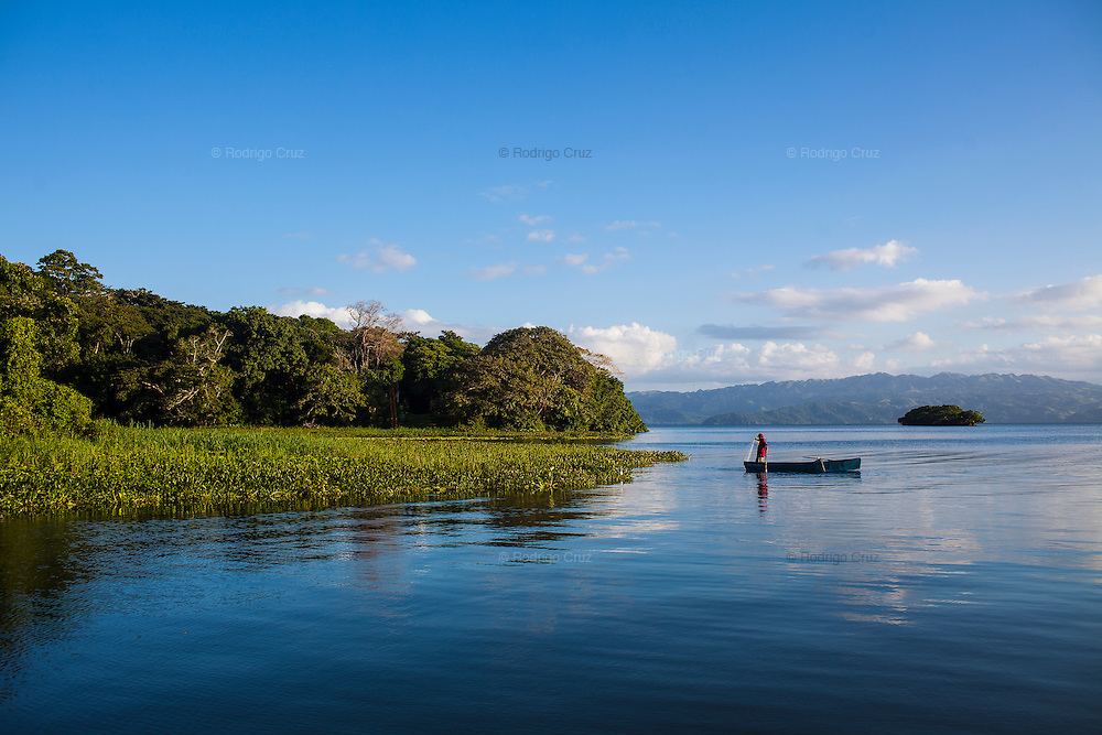A fisherman on Lake Catemaco, Veracruz.