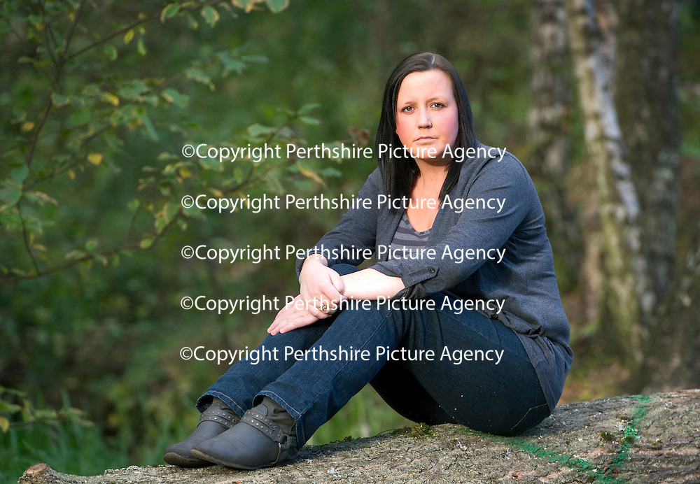 Nicole Lindsay who believed her ex-partner Sam Brooks was a man but was actually a female...29.09.11<br /> Picture by Graeme Hart.<br /> Copyright Perthshire Picture Agency<br /> Tel: 01738 623350  Mobile: 07990 594431