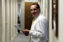 Portraits of Richard Blakesley, Senior M.D. of Kroll Associates. Loc: Kroll Associates, 25 Savile Row, W1. .Photo by Andrew Parsons / i-Images..