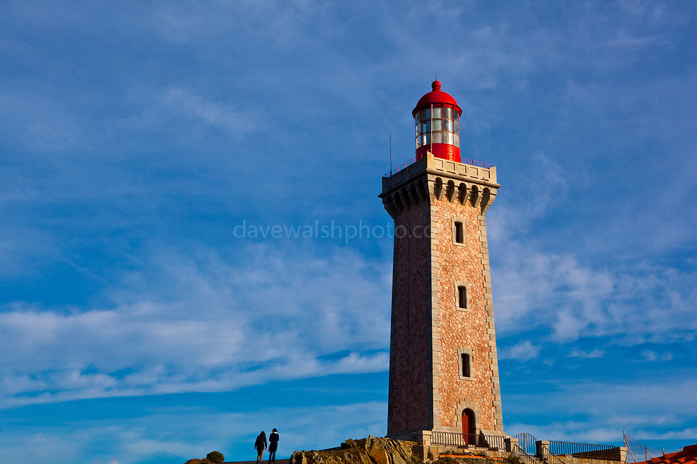 Phare du cap Béar Cape Bear Lighthouse, near Port Vendres, France.