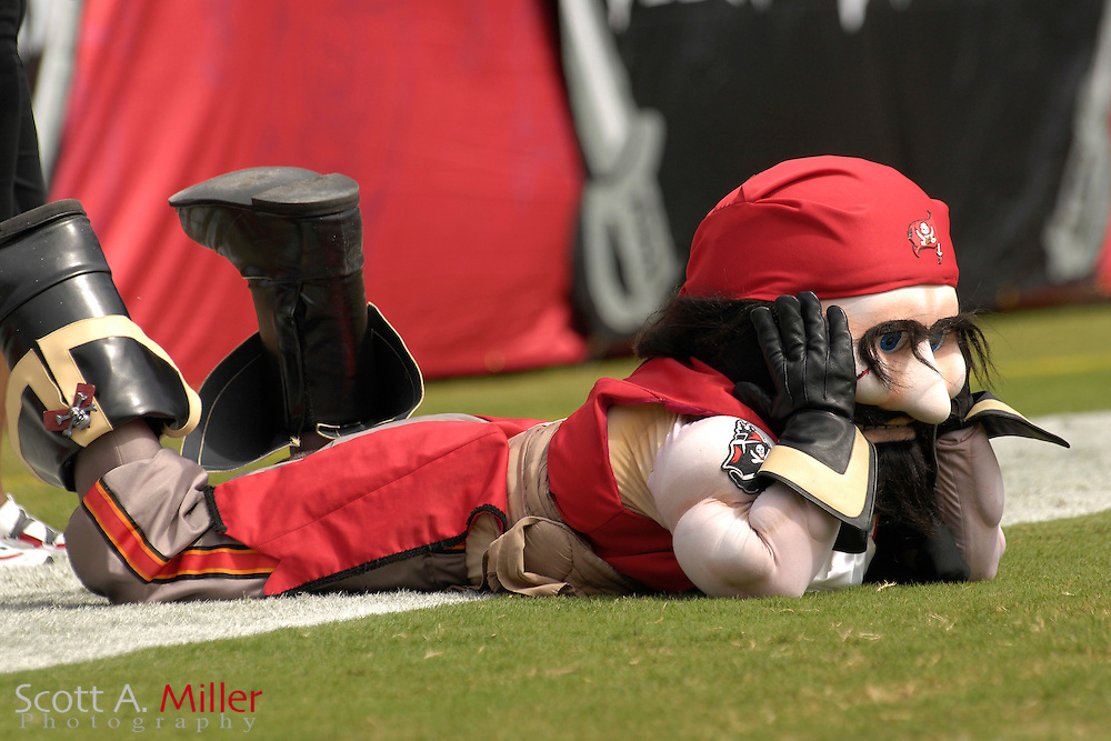 Oct. 15, 2006; Tampa, FL, USA; Tampa Bay Buccaneers mascot Captain Fear during the Bucs game against the Cincinnati Bengals at Raymond James Stadium. ...©2006 Scott A. Miller
