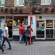 Little Korea in London Chinatown Sweet Tooth Cafe and Restaurant at Newport Court and Garret Street on 15 June 2019, UK.