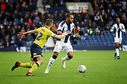 West Bromwich Albion midfielder Matt Phillips (10) on the attack during the EFL Sky Bet Championship match between West Bromwich Albion and Blackburn Rovers at The Hawthorns, West Bromwich, England on 27 October 2018.