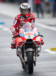October 21, 2017 - Melbourne, Victoria, Australia - Spanish rider Jorge Lorenzo (#99) of Ducati Team leaves pit lane during the third free practice session at the 2017 Australian MotoGP at Phillip Island, Australia. (Credit Image: © Theo Karanikos via ZUMA Wire)