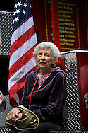 A mother, to one Fire fighter of the 343. 9/11 Memorial ceremony @ 5th ave Cathedral, Manhattan, NYC. Sep 10, 11.