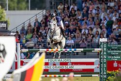FREDRICSON Peder (SWE), Catch Me Not S<br /> Aachen - CHIO 2019<br /> Rolex Grand Prix 2. Umlauf<br /> Teil des Rolex Grand Slam of Show Jumping, Der Große Preis von Aachen. Springprüfung mit zwei Umläufen und Stechen <br /> 21. Juli 2019<br /> © www.sportfotos-lafrentz.de/Stefan Lafrentz