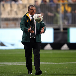 Allister Coetzee (Head Coach) of  South African (Springboks) during the Rugby Championship match between the New Zealand All Blacks and South Africa Springboks at QBE Stadium in Albany, Auckland, New Zealand on Saturday, 16 September 2017. Photo: Shane Wenzlick / lintottphoto.co.nz