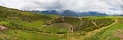 Circular Inca terraces of Moray,  Cusco Region, Urubamba Province, Machupicchu District, Peru