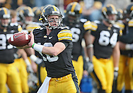 November 21, 2009: Iowa quarterback James Vandenberg (16) goes through warmups before the Iowa Hawkeyes 12-0 win over the Minnesota Golden Gophers at Kinnick Stadium in Iowa City, Iowa on November 21, 2009.