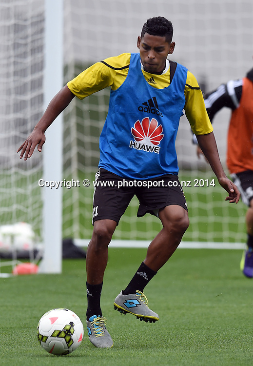Roy Krishna. A-League Football. Wellington Phoenix training session at Eden Park, Friday 12 December 2014. Photo: Andrew Cornaga/photosport.co.nz