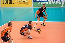 24-09-2016 NED: EK Kwalificatie Nederland - Wit Rusland, Koog aan de Zaan<br /> Nederland wint na een 2-0 achterstand in sets met 3-2 / Jeroen Rauwerdink #10, Robbert Andringa #18