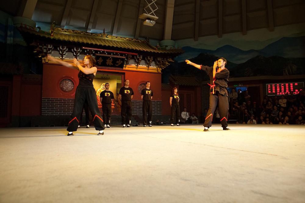 Si-Fu and Si-Mei demonstrate Biu Jee.