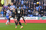 Header on goal from Reading's Paul McShane during the Sky Bet Championship match between Reading and Bolton Wanderers at the Madejski Stadium, Reading, England on 21 November 2015. Photo by Mark Davies.
