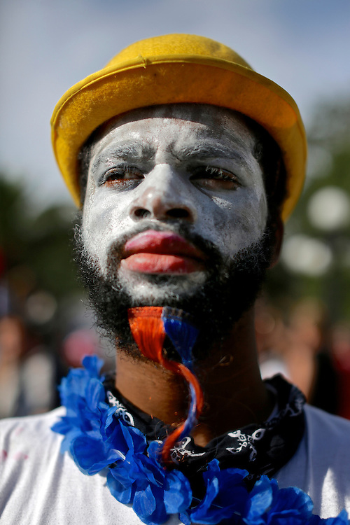 Mime Crime, of New Orleans, protestor, during the 2012 Republican National Convention in Tampa, Fla. on Aug. 28, 2012. Photo by Greg Kahn