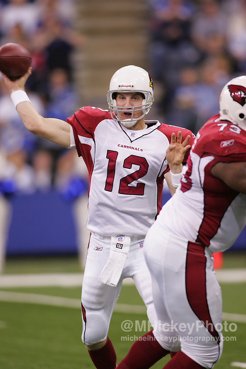 Arizona Cardinals quarterback Josh McCown seen during action against the Indianapolis Colts Jan 1, 2006. The Colts defeated the Cardinals 17-13.