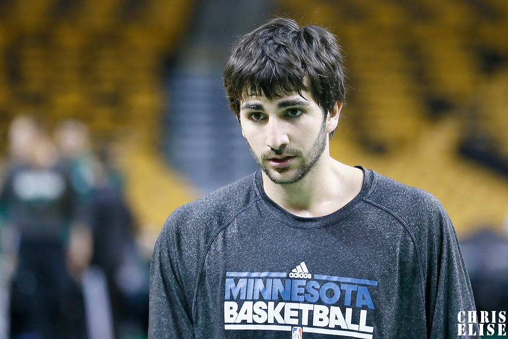 05 December 2012: Minnesota Timberwolves point guard Ricky Rubio (9) warms up prior to the Boston Celtics 104-94 victory over the Minnesota Timberwolves at the TD Garden, Boston, Massachusetts, USA.